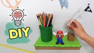 Back To School: DIY Super Mario Pencil Holder Desk Organizer [ Decor Geek / Nerd / Gamer ]