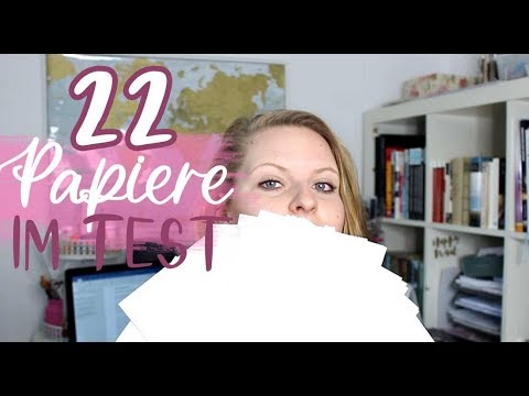 22 Aquarellpapiere im Test