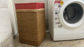 Laundry Basket | How To Make Laundry Box From Cardboard | Best Recycle Of Cardboard