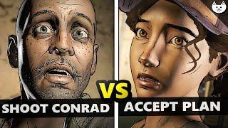 Shoot Conrad VS Accept Plan - BOTH ENDINGS to The Walking Dead Season 3 Episode 2