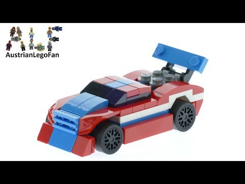 Vidéo LEGO Creator 30572 : Race Car (Polybag)