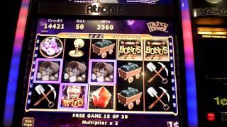 Mighty Miner Slot Machine Bonus