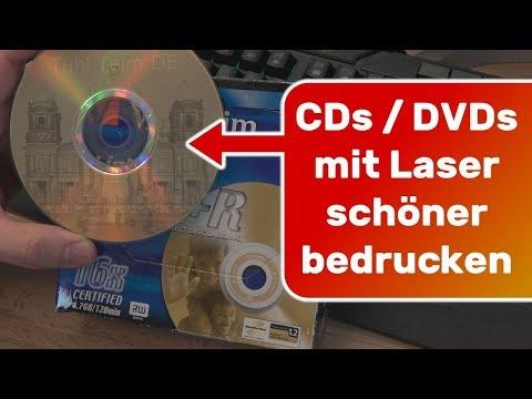CD DVD schöner bedrucken mit Laser Lightscribe