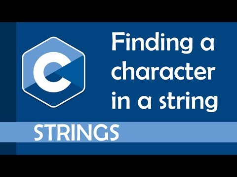 Finding a character inside a string in C