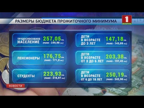 С 1 августа в Беларуси вырастет бюджет прожиточного минимума