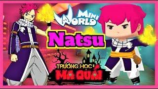 TRƯỜNG HỌC MA QUÁI: -tập 20- 1 ngày làm Natsu   Thử thách thi đấu nấu ăn cùng Timmy trong mini world
