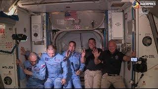 Capsula SpaceX Crew Dragon s-a cuplat cu succes la Staţia Spaţială Internaţională