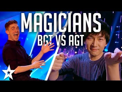 Top 10 BEST Magicians 2017 | AGT vs BGT on Got Talent Global (видео)