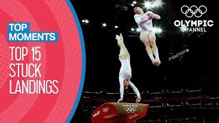 Best Stuck Landings in Women's Artistic Gymnastics at the Olympics | Top Moments