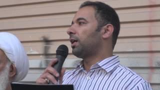 preview picture of video 'البحرين : كلمة هشام الصباغ - مسيرة كرانة 4/2/2013'