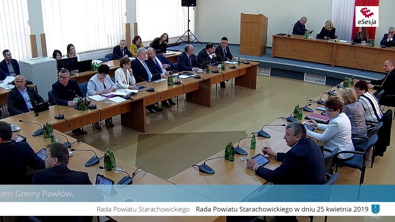 VIII Sesja Rady Powiatu w Starachowicach 25.04.2019r.