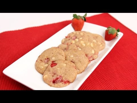 White Chocolate Strawberry Cookies Recipe – Laura Vitale – Laura in the Kitchen Episode729