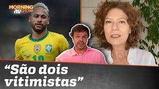 Neymar ironiza crítica de Patrícia Pillar: 'Tem que parar de fazer gol?'