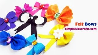 How To Make Felt Bows Different Styles With FREE Templates Included - EP - Simplekidscrafts