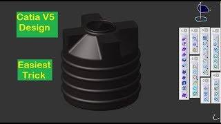 CATIA V5 | Video Tutorial for Beginners | Water Storage Tank Design | Technical MMS