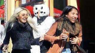 Scary Snowman Prank  2017 USA - Angry Snowman Tour