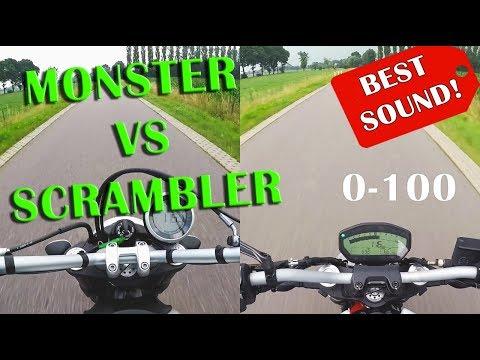 Ducati Monster 797 Vs Scrambler 0 100 Kmh Actionnews Abc Action