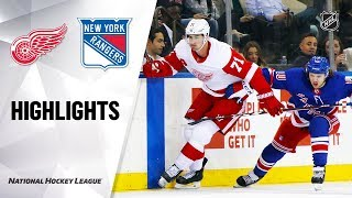 NHL Highlights   Red Wings @ Rangers 11/06/19