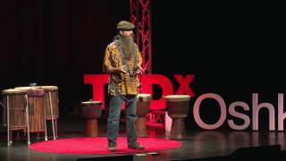Drum Circles, Integrating Self and CommUninty | Robin Cardell | TEDxOshkosh