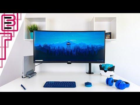 Clean Ultrawide USB C Dock Setup