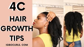 4c Hair Growth Tips To Grow Healthy Natural Hair Faster and Longer in 2020