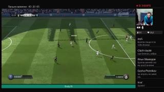 Fifa18. Реал Мадрид - ПСЖ, фланги базуки. Играет zapizdun.