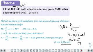 Eğitim Vadisi 11.Sınıf Kimya 13.Föy Derişim Birimleri Konu Anlatım Videoları