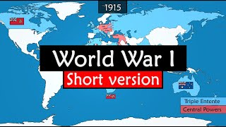 World War I - origins, events and consequences summarized on a map