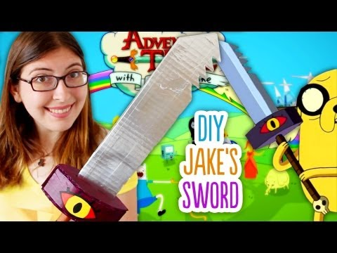 DIY Jake's Sword from Adventure Time // Perfect for Halloween!