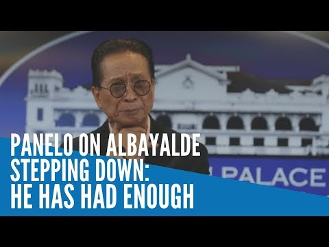 [Inquirer]  Panelo on Albayalde stepping down: He has had enough