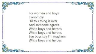 Gary Numan - White Boys and Heroes Lyrics