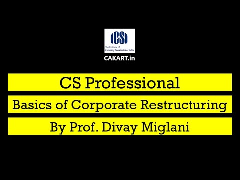 Basics of Corporate Restructuring By Prof. Divay Miglani