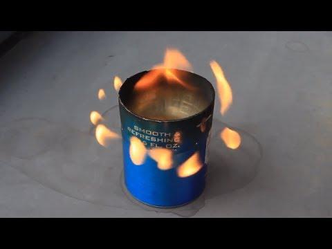利用汽水罐製造了一個點燃器