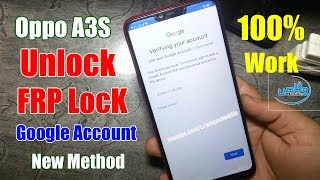 oppo a3s pattern unlock password unlock frp unlock reset unlock by