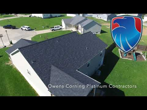 Two neighbors experienced damaging winds earlier this Spring. We worked with the insurance companies and put on a high quality, industry leading Owens Corning Duration Shingle.
