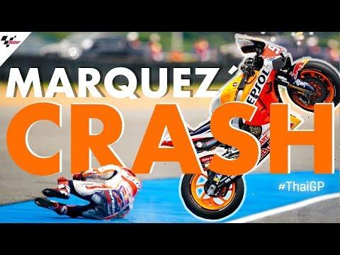 マルケスクラッシュ動画 MotoGP 第15戦タイで痛恨の大クラッシュ