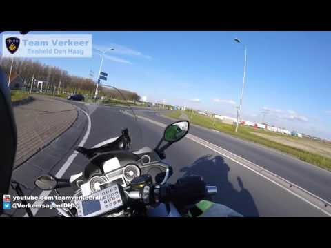 Dutch motorcycle police guidance of an ambulance with an incubator baby from one hospital to a more specialized one. Speed is not the main factor, no sudden breaking is.