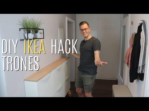 DIY Ikea TRONES Hack: TRONES Schuhschrank aufhübschen | Hausprobiert