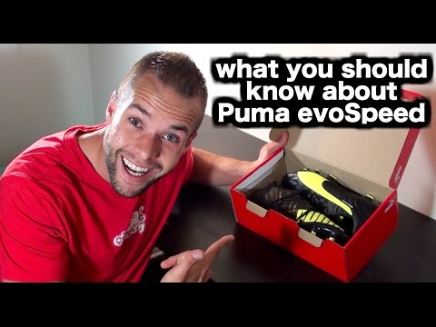 Puma evoSpeed 3.4 soccer cleats unboxing ► Soccer shoes & football boots review