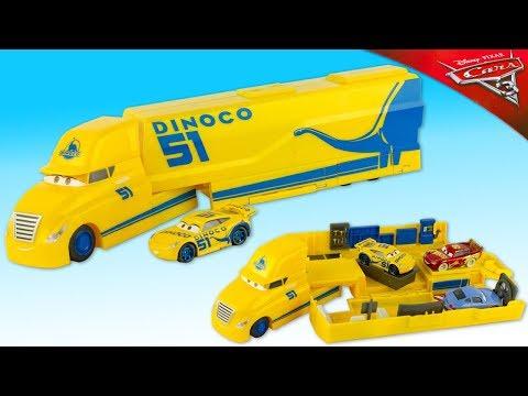 Disney Cars 3 Camion Transporteur Cruz Ramirez Dinoco Jouet Toy Truck Hauler Review Juguetes