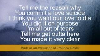 Ester Dean ft Chris Brown - Love Suicide lyrics