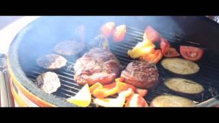 Готовим мясо и овощи на керамическом гриле - барбекю BergHOFF