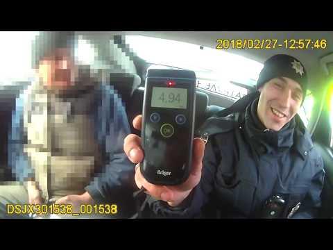 Патрульные Львова задержали пьяного водителя с рекордным содержанием алкоголя в крови