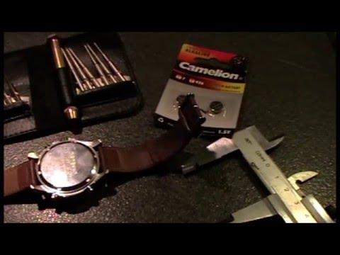 Armbanduhr Batterie wechseln , drehverschluss , how to open the watches