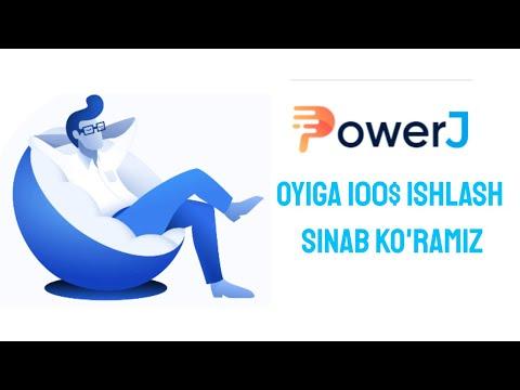 POWER J OYIGA 100$ ISHLASH SINAB KO'RAMIZ
