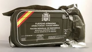 2015 Spanish Individual Emergency Ration 24 Hour Survival MRE Review Meal Ready to Eat Taste Test