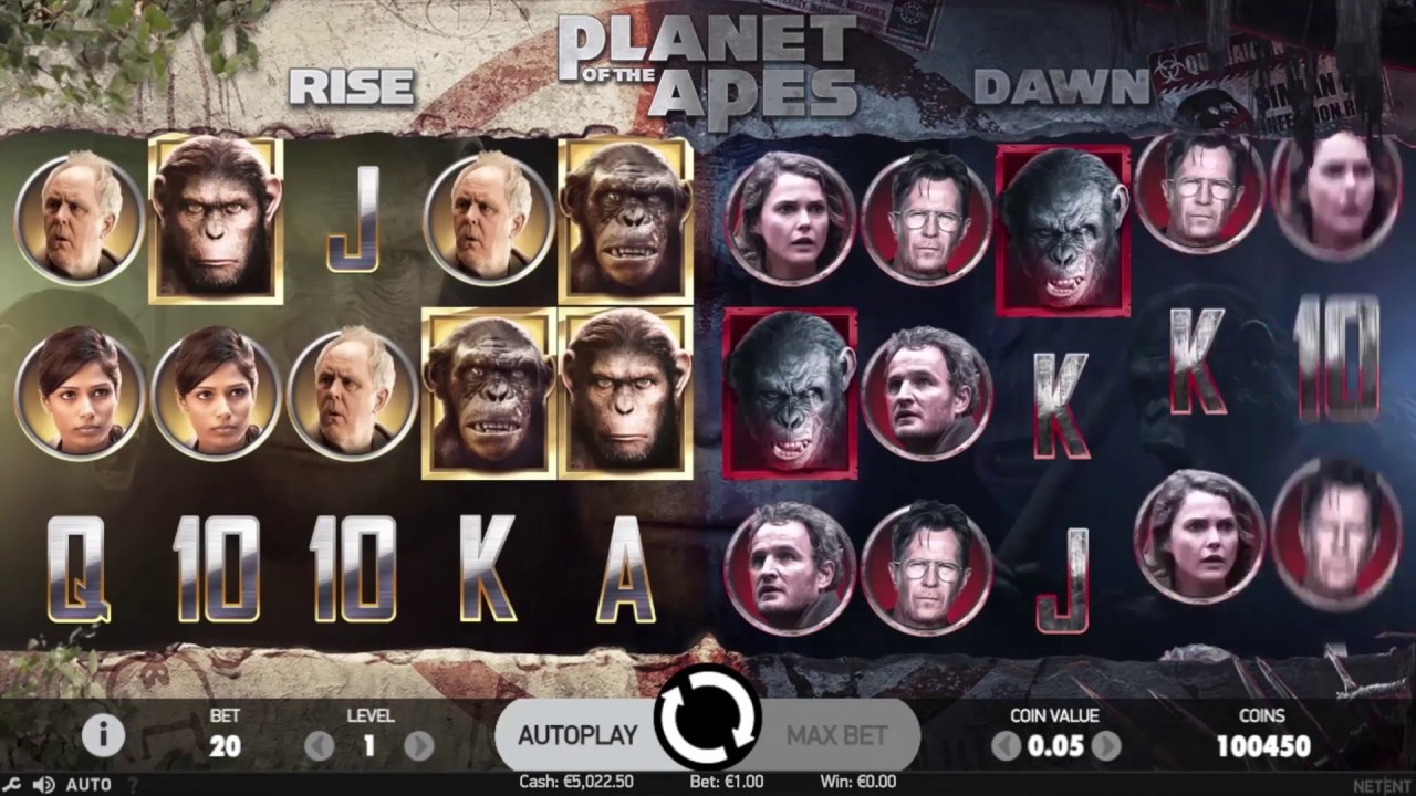 Planet of the Apes från NetEnt