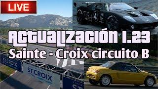 🔴 Directo de Gran Turismo Sport - Actualización 1.23 | Carreras en Sainte - Croix circuito B