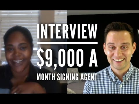 Interview! $9,000 a month notary signing agent! (Texas) - YouTube