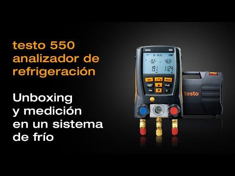Testo 550: unboxing y ejemplo de uso